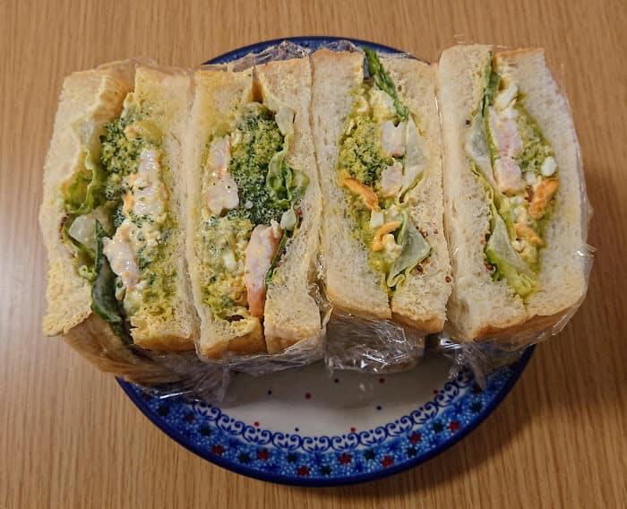 ワカモレを使ったサンドイッチ