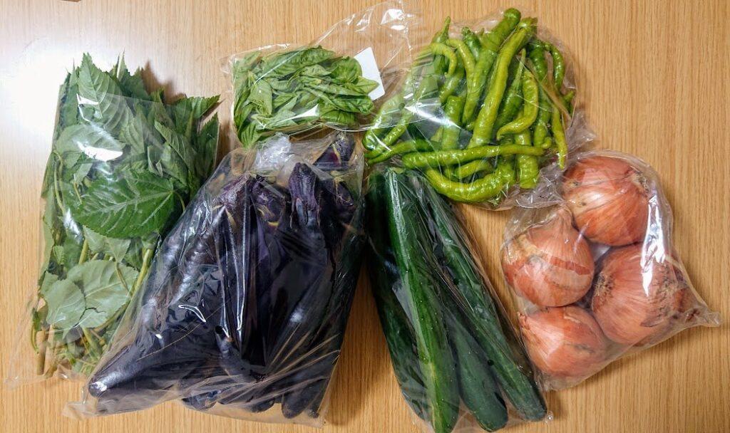 道の駅で買った野菜